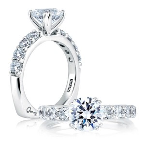 A Jaffe Platinum Diamond Engagement Ring MES078 / 80