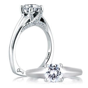 A Jaffe Platinum Signature Engagement Ring MES144