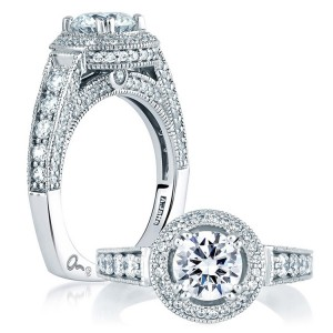 A Jaffe Platinum Signature Engagement Ring MES151
