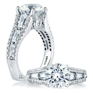 A Jaffe Platinum Signature Engagement Ring MES154