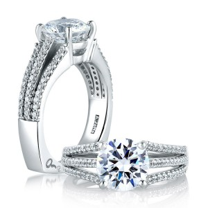 A Jaffe Platinum Signature Engagement Ring MES300