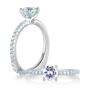 A Jaffe Platinum Signature Engagement Ring MES382