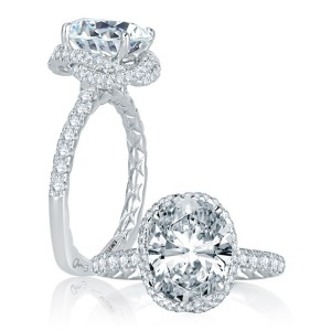 A.JAFFE Platinum Signature Engagement Ring MES768Q