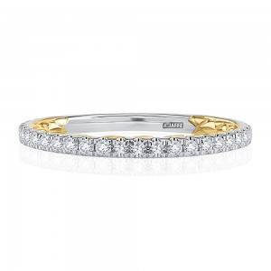 A.JAFFE 14 Karat Classic Diamond Wedding Ring MRCRD2332Q/36