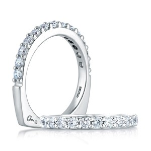 A.JAFFE Metropolitan Collection Signature Platinum Diamond Wedding Ring MRS168 / 21