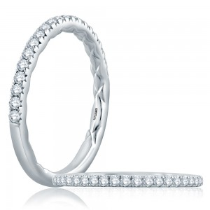 A.JAFFE Platinum Classic Diamond Wedding Ring MR2169Q