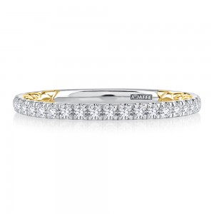 A.JAFFE Platinum Classic Diamond Wedding Ring MRCOV2334Q