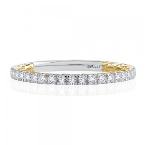 A.JAFFE Platinum Classic Diamond Wedding Ring MRCRD2336Q