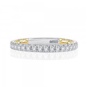 A.JAFFE Platinum Classic Diamond Wedding Ring MRCRD2349Q
