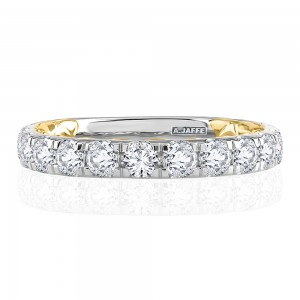 A.JAFFE Platinum Metropolitan Diamond Wedding Ring MRCRD2348Q