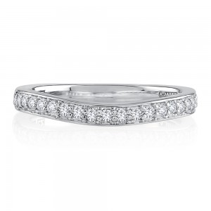 A.JAFFE Platinum Metropolitan Diamond Wedding Ring MRSRD2346