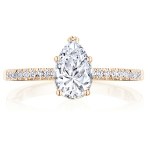 Tacori P104PS85X55FPK 14 Karat Coastal Crescent Engagement Ring