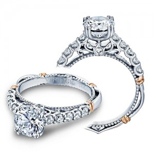 Verragio Parisian-103L Platinum Engagement Ring