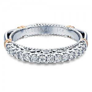 Verragio Parisian-103MW 14 Karat Wedding Ring / Band