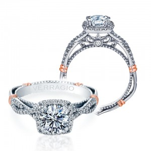 Verragio Parisian-106CU Platinum Engagement Ring