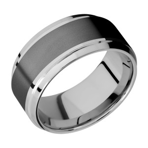 Lashbrook PF10B16(S)/ZIRCONIUM Titanium Wedding Ring or Band