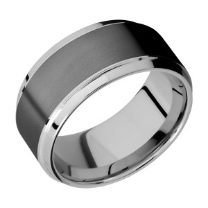 Lashbrook PF10B17(S)/ZIRCONIUM Titanium Wedding Ring or Band