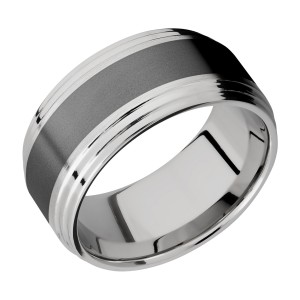 Lashbrook PF10F2S15/ZIRCONIUM Titanium Wedding Ring or Band
