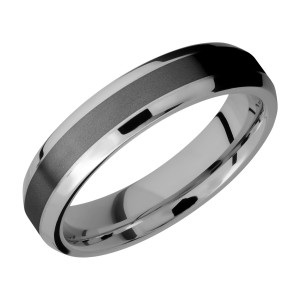 Lashbrook PF5B13(NS)/ZIRCONIUM Titanium Wedding Ring or Band