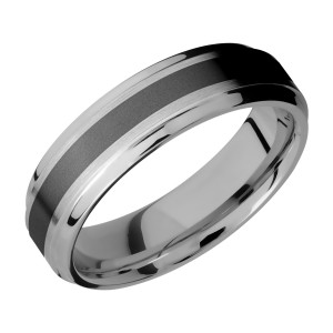 Lashbrook PF6B13(S)/ZIRCONIUM Titanium Wedding Ring or Band