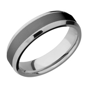Lashbrook PF6B14(NS)/ZIRCONIUM Titanium Wedding Ring or Band