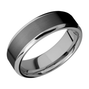 Lashbrook PF7B15(NS)/ZIRCONIUM Titanium Wedding Ring or Band