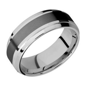 Lashbrook PF8B14(S)/ZIRCONIUM Titanium Wedding Ring or Band