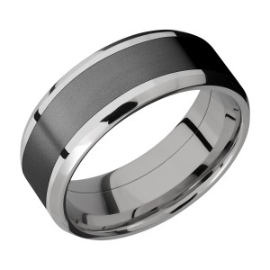 Lashbrook PF8B15(NS)/ZIRCONIUM Titanium Wedding Ring or Band