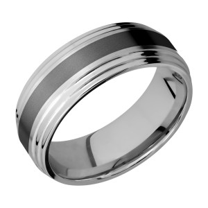 Lashbrook PF8F2S13/ZIRCONIUM Titanium Wedding Ring or Band
