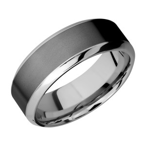 Lashbrook PF8HB15/ZIRCONIUM Titanium Wedding Ring or Band