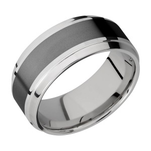 Lashbrook PF9B15(S)/ZIRCONIUM Titanium Wedding Ring or Band