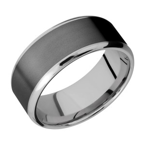 Lashbrook PF9B17(NS)/ZIRCONIUM Titanium Wedding Ring or Band