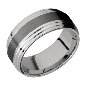 Lashbrook PF9F2S14/ZIRCONIUM Titanium Wedding Ring or Band