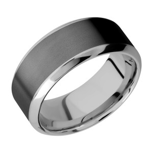 Lashbrook PF9HB16/ZIRCONIUM Titanium Wedding Ring or Band