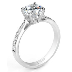Parade New Classic R1686 14 Karat Diamond Engagement Ring