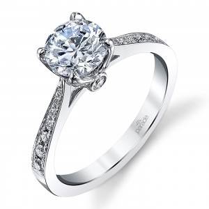 Parade New Classic Platinum Diamond Engagement Ring R3929