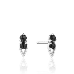 Tacori SE25519 Petite Open Crescent Earrings with Black Onyx