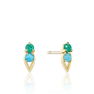 Tacori SE2554849FY Petite Open Crescent Earrings with Turquoise