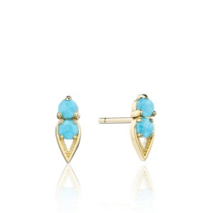 Tacori SE25548FY Petite Open Crescent Earrings with Turquoise
