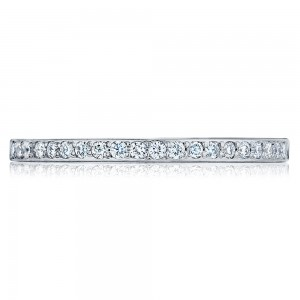 252612 Platinum Tacori Ribbon Diamond Wedding Ring