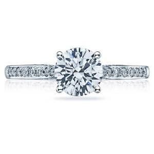 2638RDP65 Platinum Tacori Dantela Engagement Ring
