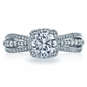 2641CUP65 Tacori Dantela Platinum Engagement Ring