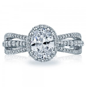 2641OV8X6 Tacori Dantela Platinum Engagement Ring
