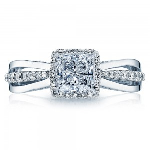 2641PR6 Tacori Dantela Platinum Engagement Ring