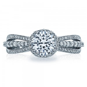 2641RDP65 Tacori Dantela Platinum Engagement Ring