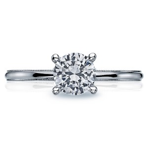 40-15RD6 Platinum Tacori Sculpted Crescent Engagement Ring