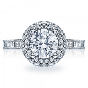 HT2517RD75 Tacori Crescent 18 Karat Engagement Ring