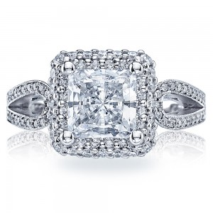 HT2518PR75 Tacori Crescent Platinum Engagement Ring