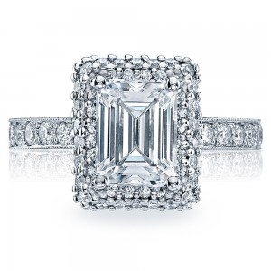 HT2520EC85X65 Tacori Crescent 18 Karat Engagement Ring