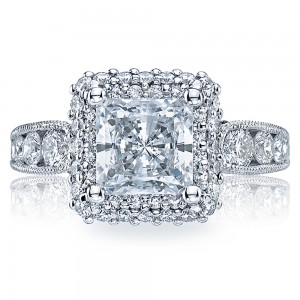 HT2521PR7 Tacori Crescent Platinum Engagement Ring